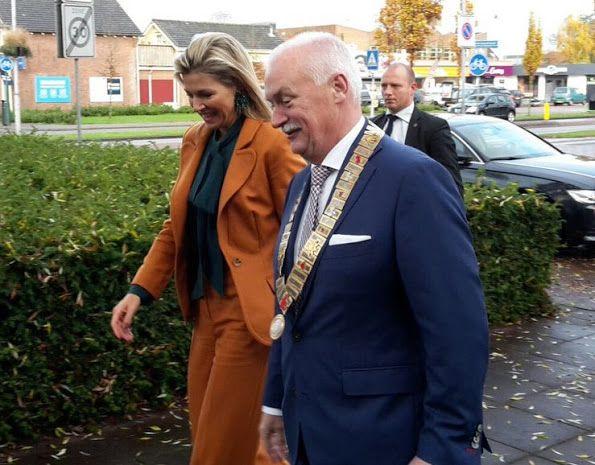 Koningin Maxima bezoekt maatjesproject Barneveld 17 november 2016
