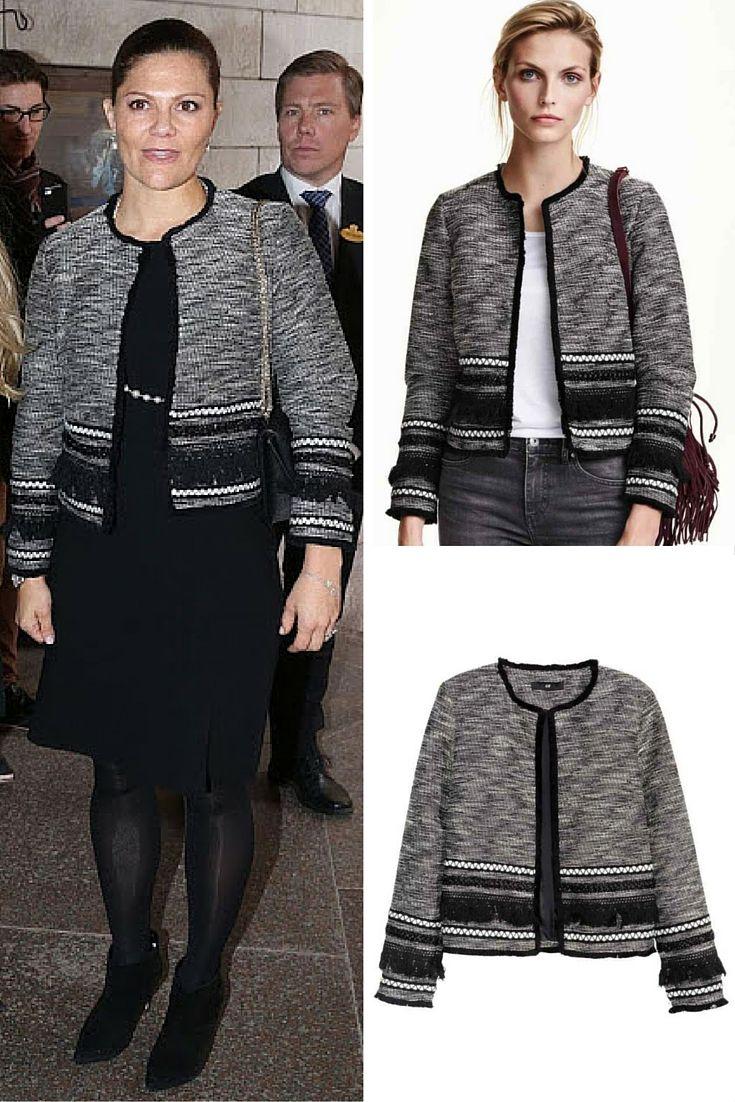 Crown Princess Victoria in an H&M fringed jacket #getthelook