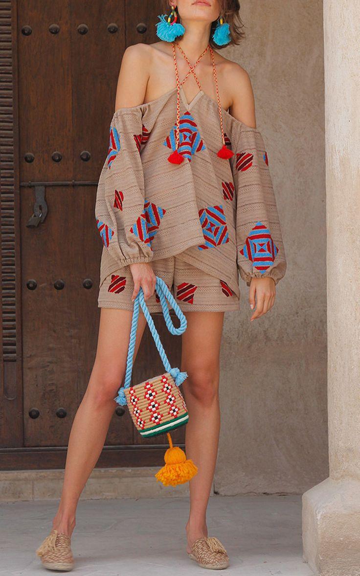 Dassin Embroidered Knit Top by Mochi | Moda Operandi