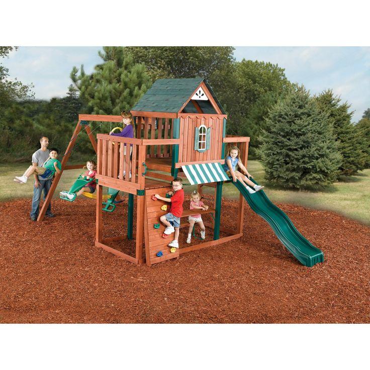 swingnslide winchester wood swing set build a funfilled