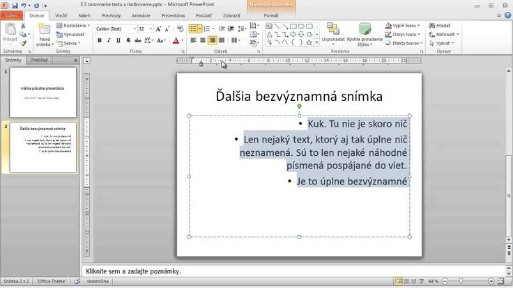 3 3 Zarovnanie Textu a Riadkovanie