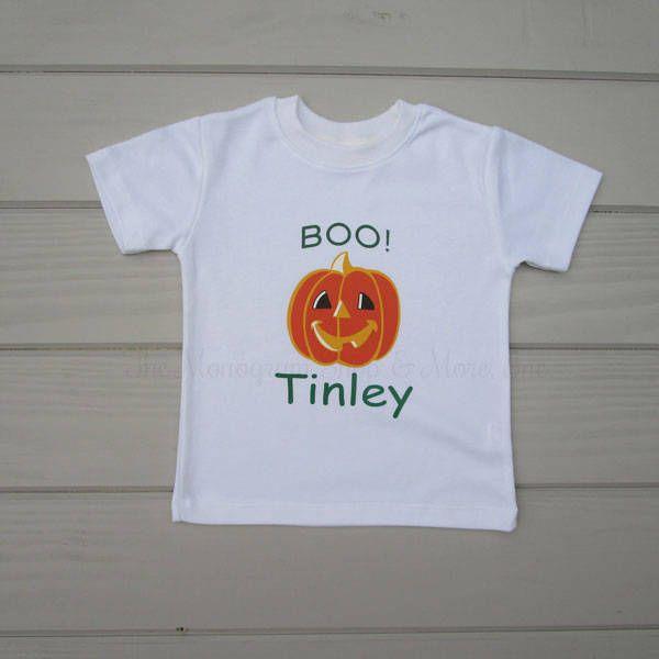Personalized Pumpkin T-Shirt / Monogrammed T Shirts / Personalized T-Shirts / Toddler T-Shirt / Kids TShirts / Children's T-Shirt /Halloween by MonogramandmoreShop on Etsy