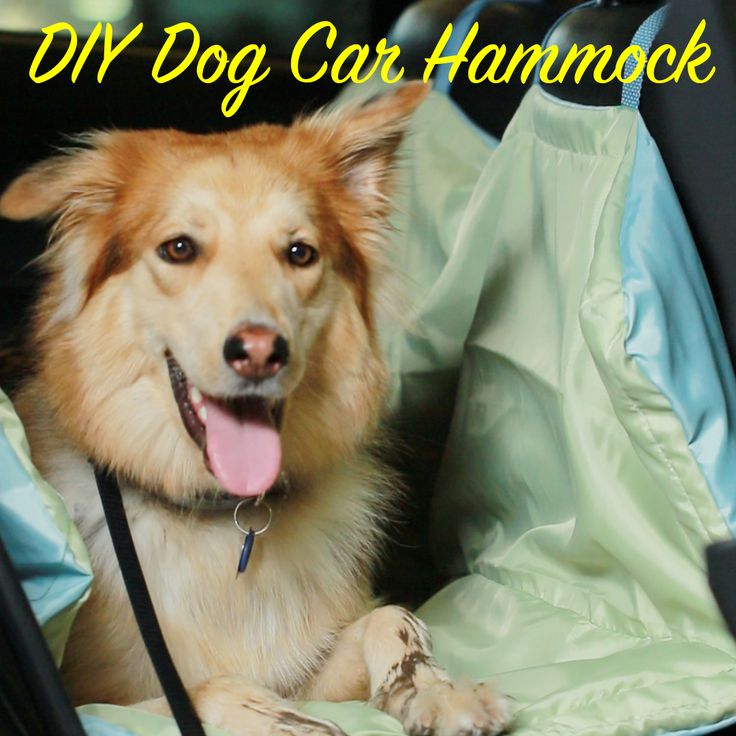 Diy dog car hammock - shower curtains and old towels
