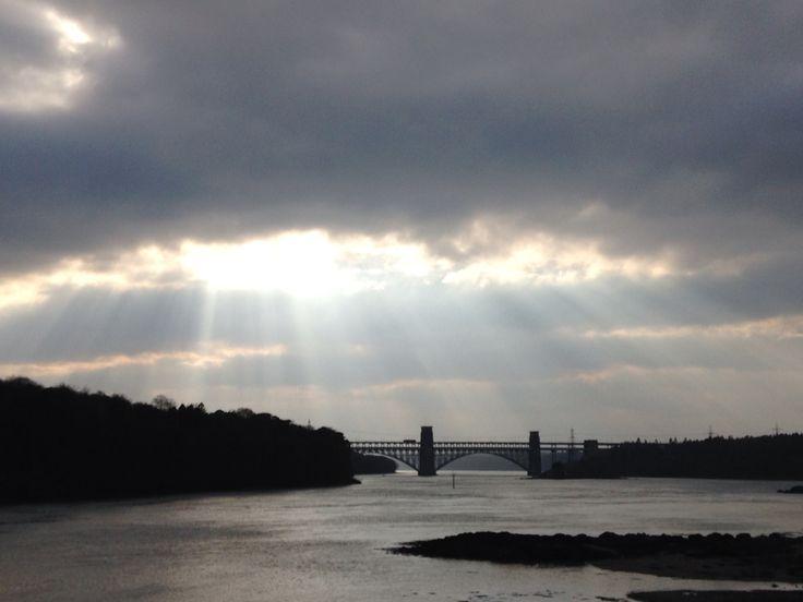 Britannia bridge, Menai straits, Anglesey