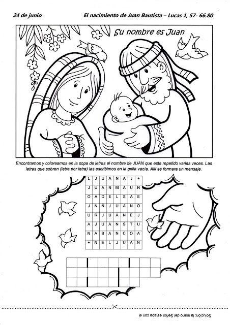 Educar con Jesús: Nacimiento Juan Bautista (24 junio)