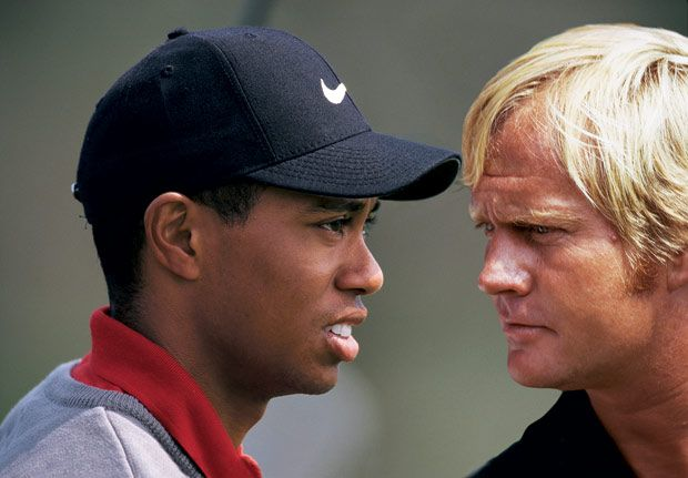 Tiger Woods and Jack Nicklaus who will go down in history as the best - http://www.pulpinterest.com/sport/tiger-woods-majors/