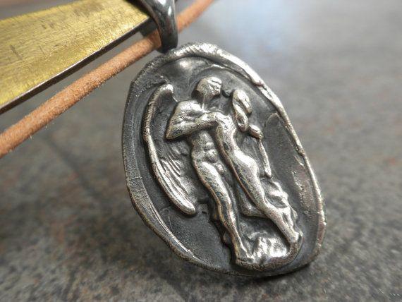 Wax Seal Pendant Eros and Psyche by Serrelynda on Etsy, $58.00