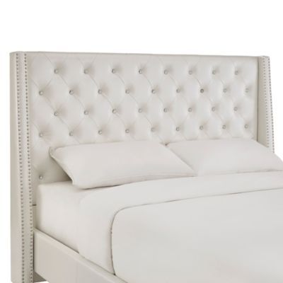 With Sparkling Crystal Tufting The Diane Crystal Tufted Headboard