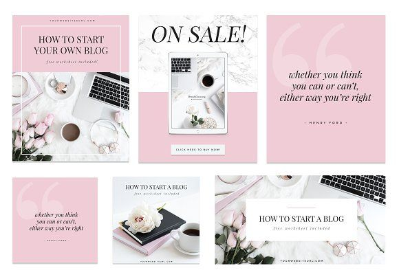 Ladypreneur II Social Media Kit by isntshelovelydesigns on @creativemarket