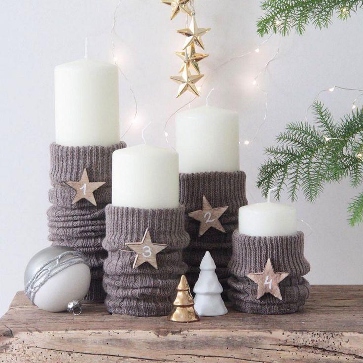 Adventskranz-Kerzen #Kerzen #Design #Seelenherstellung #Trinken #Deko …   – Kerzen Dekoration