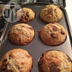 Photo de recette : Muffins bananes, avoine et pépites de chocolat