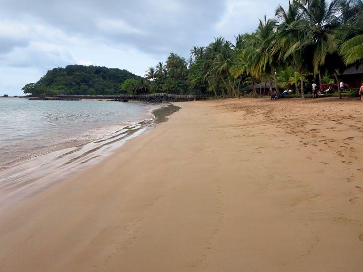 Praia de Coco leads to the bridge between Principe Island and Bom Bom Island, São Tomé and Príncipe.