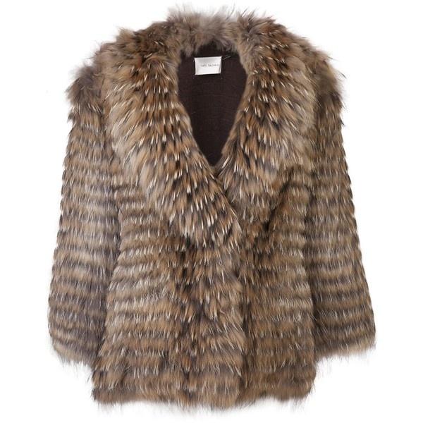 YVES SALOMON Long sleeve jacket ($2,150) via Polyvore