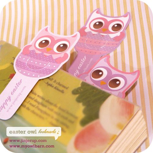 Free Easter Owl Goodie Bag and Bookmarks