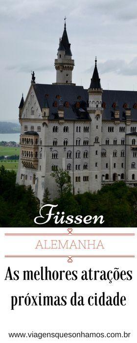 Conheças as principais atrações de Füssen, seus castelos, lagos e passeios próximos.