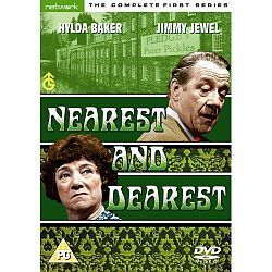 """Nearest And Dearest with Hilda Baker as Nellie Pickersgill owner of a pickle factory along with Jimmy Jewel. Loved this show ... """"Has he been ..?"""" Google search"""