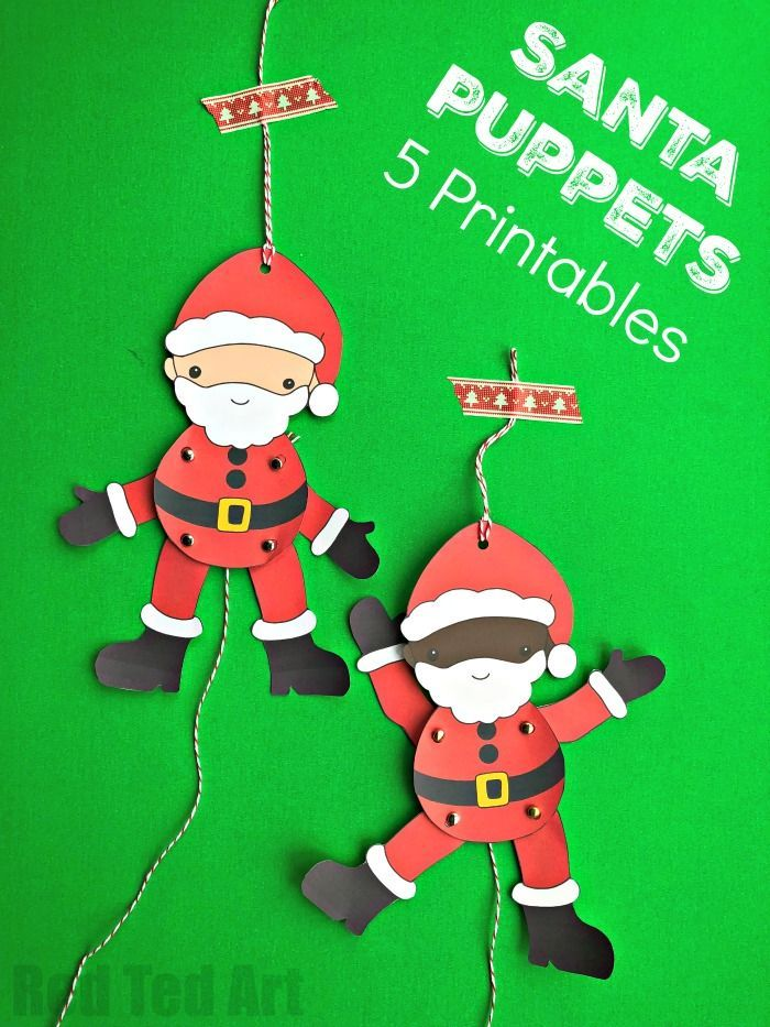 printable santa paper puppet 25 unique ideas on 5292