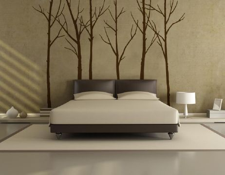 Winter Trees Dark Brown Wall Stickers.