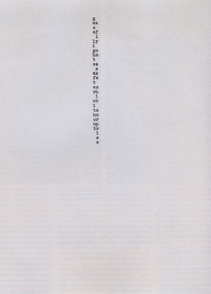The Shape of Poetry: Carl Andre's Typed Works