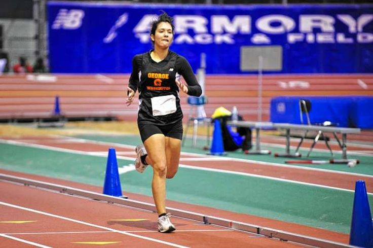 George Washington HS sophomore Annie Gonzales competes in A Night At the Sprints at the Armory Track and Field Center in Washington Hts on Friday. The school has reestablished its once-storied track program, which folded in 2004 due to declining interest.