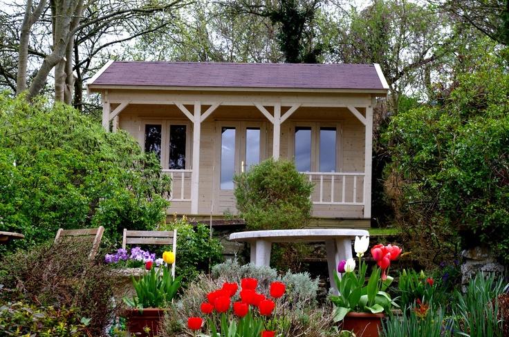 Traditional english summerhouse with veranda by garden affairs summerhouses pinterest - Garden summer houses with verandas ...