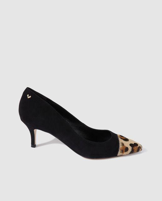 A Ante Puntera Zapatos Negro Con Salón Martinelli De Mujer En TwOXiPkZu
