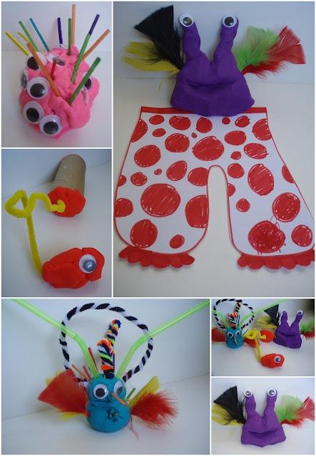 Aliens Love Underpants - Play dough aliens!
