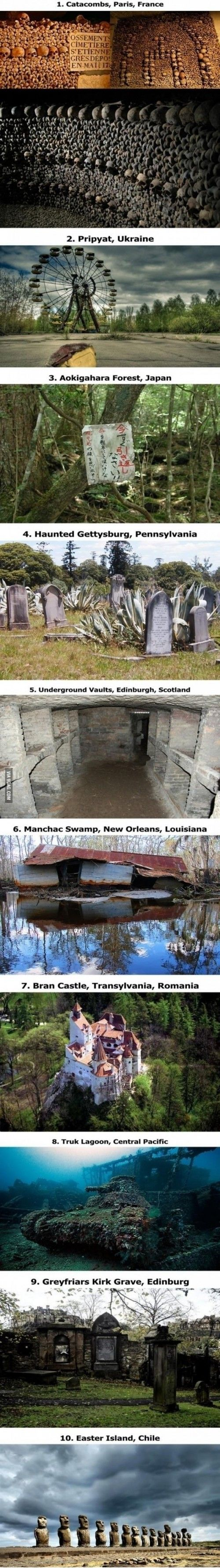 I don't know if I would go to all of these but I want to think I would be breve enough to try (10 scariest places in the world)