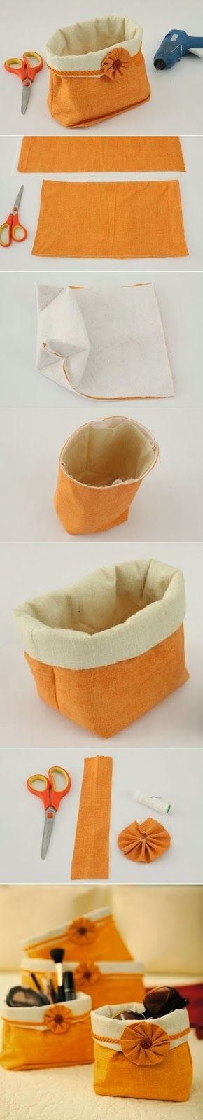 How To Make a Charming Handbag- I think these would look great as bwthroom storage for wash cloths etc.....