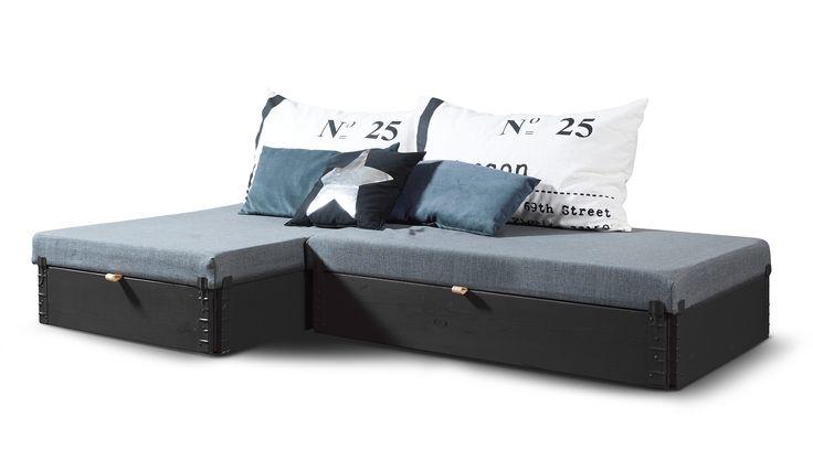 Flex sofa briks - super fleksibel og nem at stille op uden brug af værktøj. Se mere på www.mystack.dk