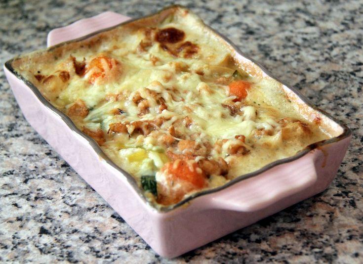 Ingrediënten: 1 dikke prei, het witte gedeelte 150 gram wortelbolletjes (of gewone wortelen) 4 stengels bosui 450 gram kabeljauw (kan ook een andere vissoort zijn of een mengeling) 125 gram grijze …