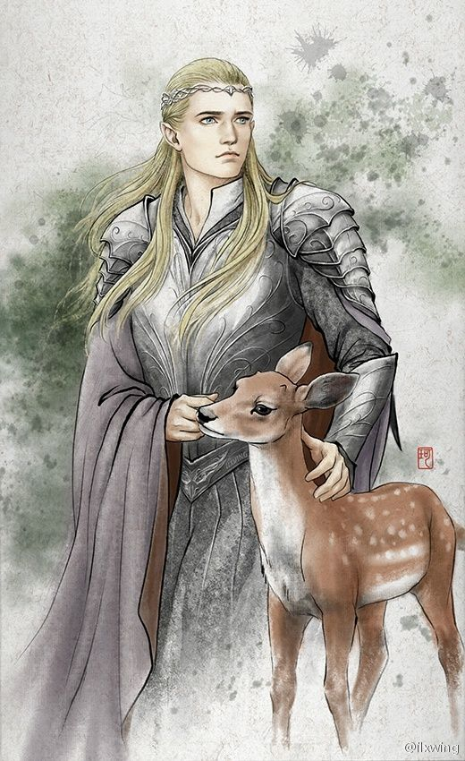 """I brought you a friend, Eleniel."" Legolas said to me. ""I know it's been hard for you, and I know you've been lonely...""  I reached out my hand and rubbed the fawn's head. ""Legolas, he's wonderful...thank you."" I whispered. Then I leaned my head against Legolas' shoulder and he kissed my neck softly. ""I'm glad you're happy."""