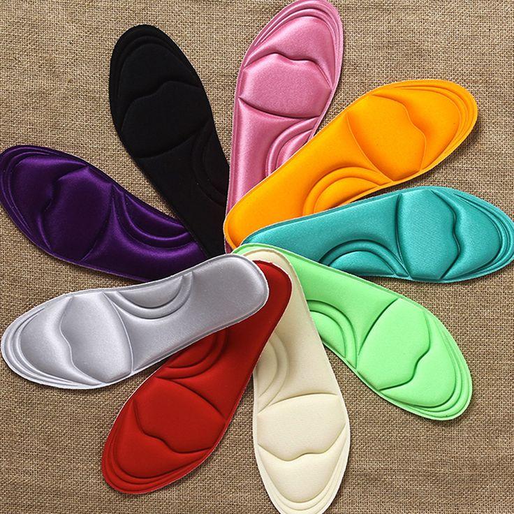 2 Par/lote Memoria Forma de Shock-Absorbente Plantillas del masaje del pie plantilla para hombre y mujeres zapatos casuales Pie fascitis plantar dolor