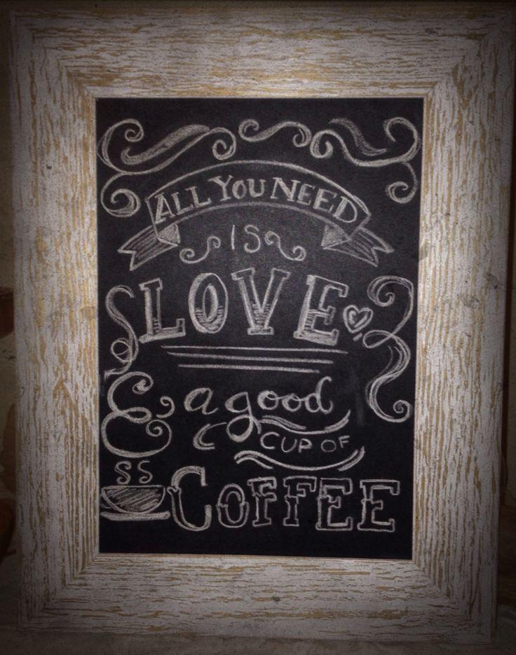 Lavagnetta per zona caffè, fatta da me /chalkboard