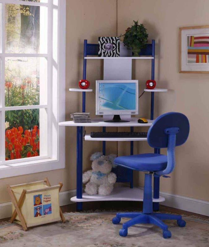 White Corner Desk For Kids