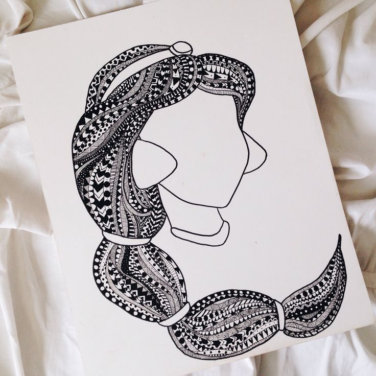 "eeuphhoriaa: ""My finished Jasmine in my Princess Zentangle series. Next im doing Rapunzel. """