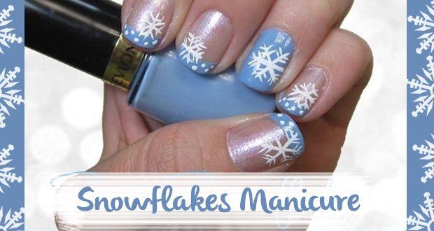 Tutorial Unghie Natale: realizza una nail art con fiocchi di neve