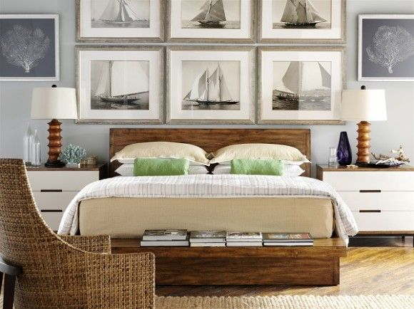 We are going with a sailboat theme in our master bedroom. Hubby used to sail and race so he is on board with the idea.