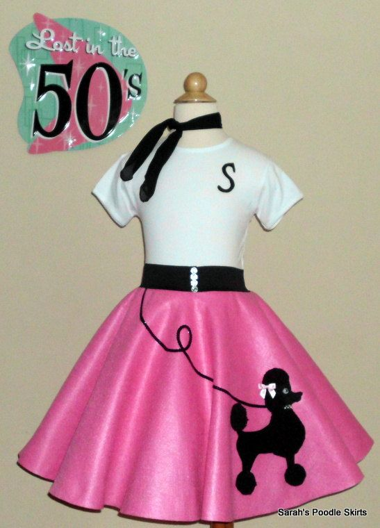 Gorgeous Girls 3pc Patty Poodle Skirt Outfit Your Choice of Size and Color S,M,L,XL!