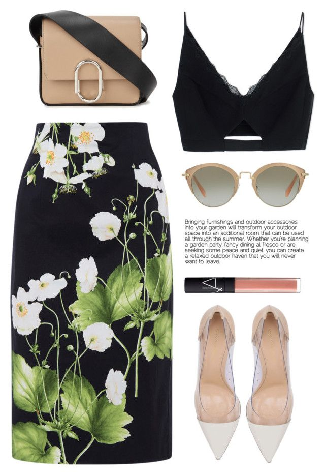 """..."" by yexyka ❤ liked on Polyvore featuring Oasis, Versace, Gianvito Rossi…"