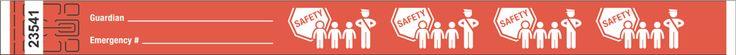 "3/4"" Tyvek® Wristbands - Child Safety"