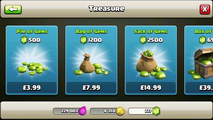 Clash of Clans: Category Shop Products