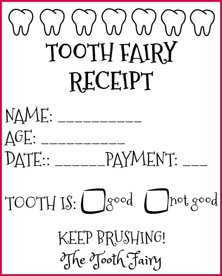 photo regarding Printable Tooth Fairy Receipt titled The Teeth Fairy Arrived! Cost-free Printable Enamel Fairy Receipts inside of