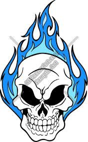 Drawings Of Flaming Skulls