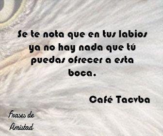Frases de canciones de cafe tacvba de Café Tacvba
