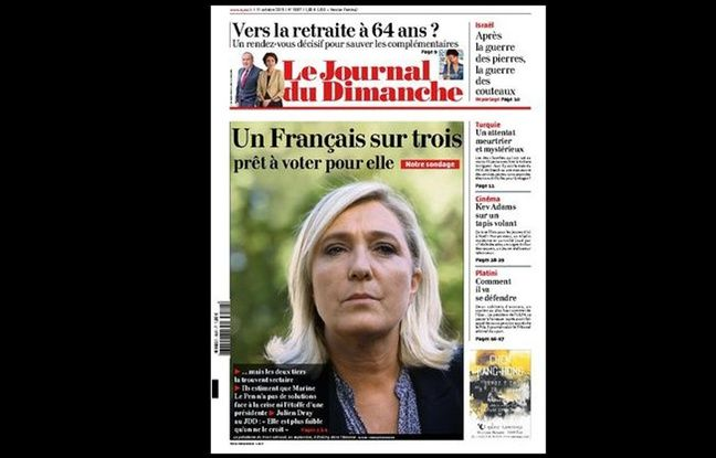 Arnaud Lagardère proteste contre la Une du «JDD» sur Marine Le Pen