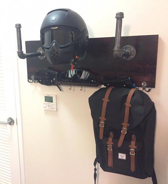 Motorcycle Helmet Holder Deluxe Harleydavidsoncustom Helmet Storage Motorcycle Storage Motorcycle Camping