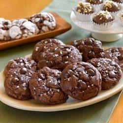 Chocolate Truffle Cookies with Sea Salt