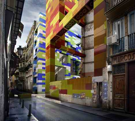 lego-architecture, Urban LEGOs: Conceptual Cure for Civic Blight Blindness, by spanish studio Espal MGR