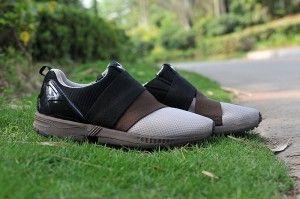 adidas Originals ZX FLUX SLIP ON Heren sport Schoenen - zwart/bruin/grijs